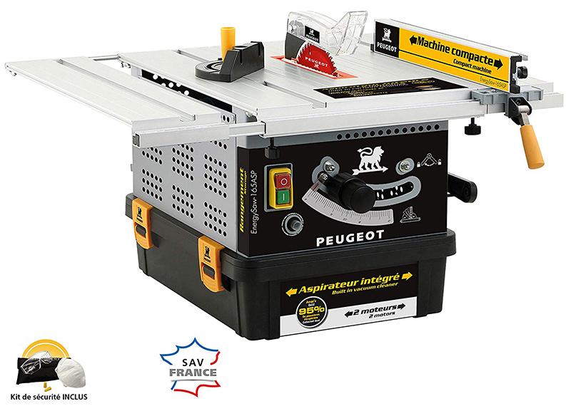 Test et Avis Peugeot ENERGYSAW-165ASP Scie de table avec aspirateur intégré 1200 W