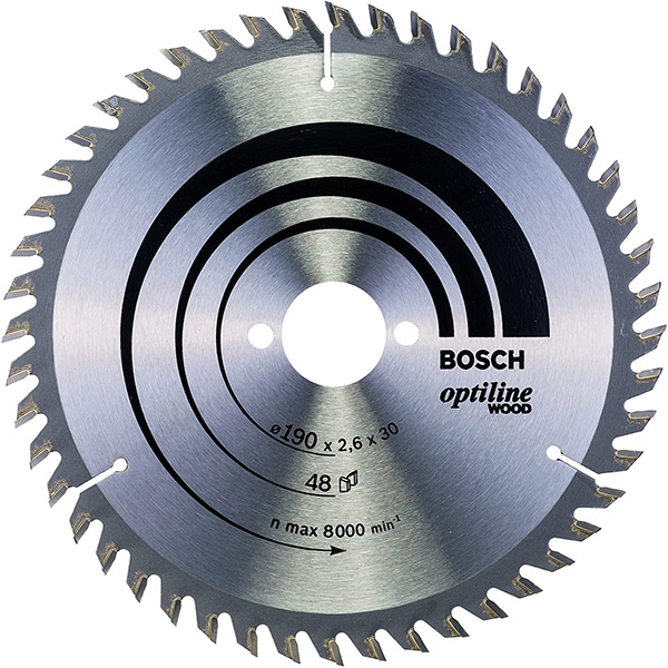 Bosch Professional Lame de Scie Circulaire, 48 Dents, 30mm d'Alésage, 2.6mm Largeur de Coupe
