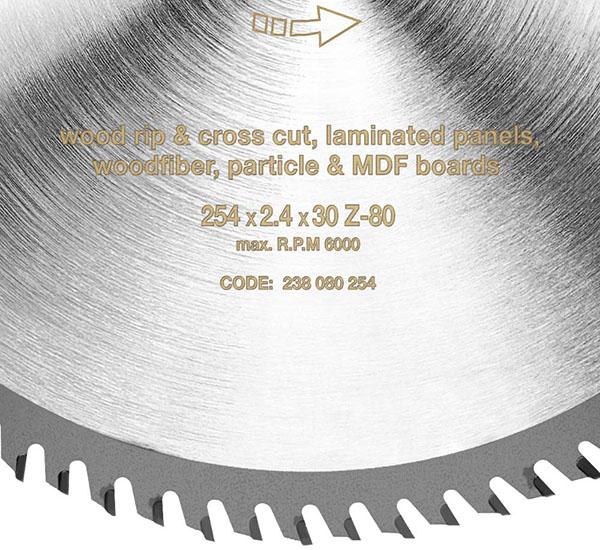 S&R - Lame de scie circulaire Bois 254 x 30 mm 80 Dents