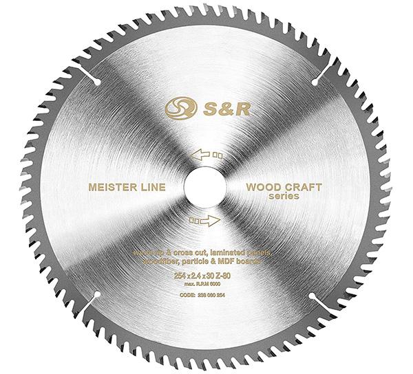 Test S&R Lame de scie circulaire Bois 254 x 30 mm 80 Dents