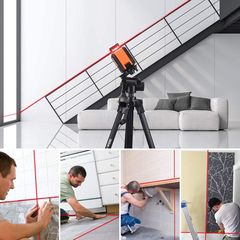 avis - Tacklife SC-L04 Professionnel Niveau Laser Croix 30 m à 360°