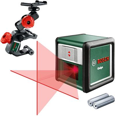 test - Bosch Laser ligne en croix Quigo 3 portée 10 mètres avec pince de fixation MM2